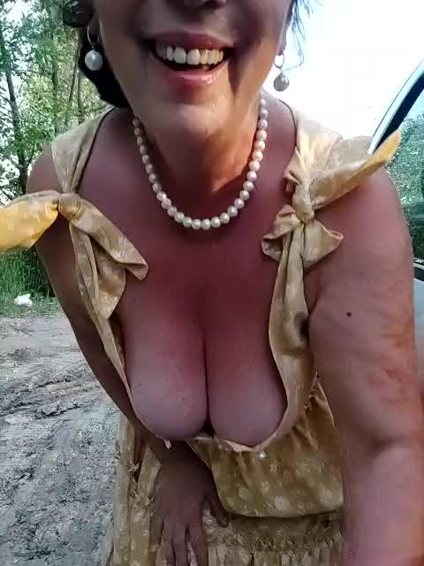 naked enjoying outside