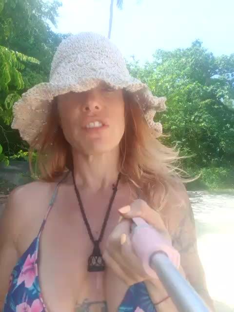 naughty girl at the beach