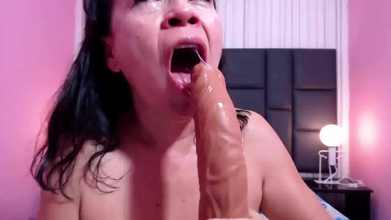 big cock deepthroat and a lot of saliva