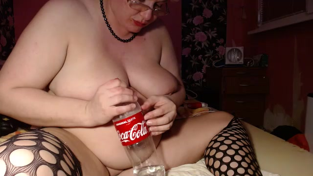 Bottles in pussy and cervix show